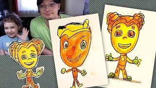 Как нарисовать ФИКСИКОВ из мультика / Шпуля / Урок рисования для детей