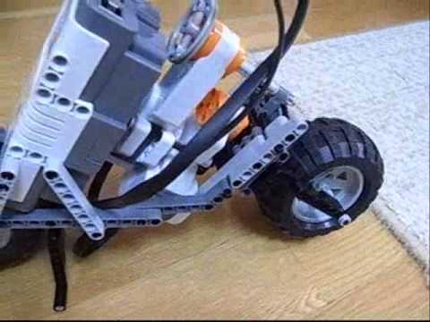 Lego mindstorms NXT Motorcycle Detail 2 - YouTube