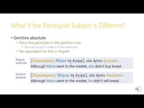 13.2 Genitive Absolute