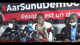 🔴Suivez la conference de presse du Mouvement pour la Défense de la Démocratie (M2D)