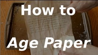 Fast Hacks #10 - How to Age Paper