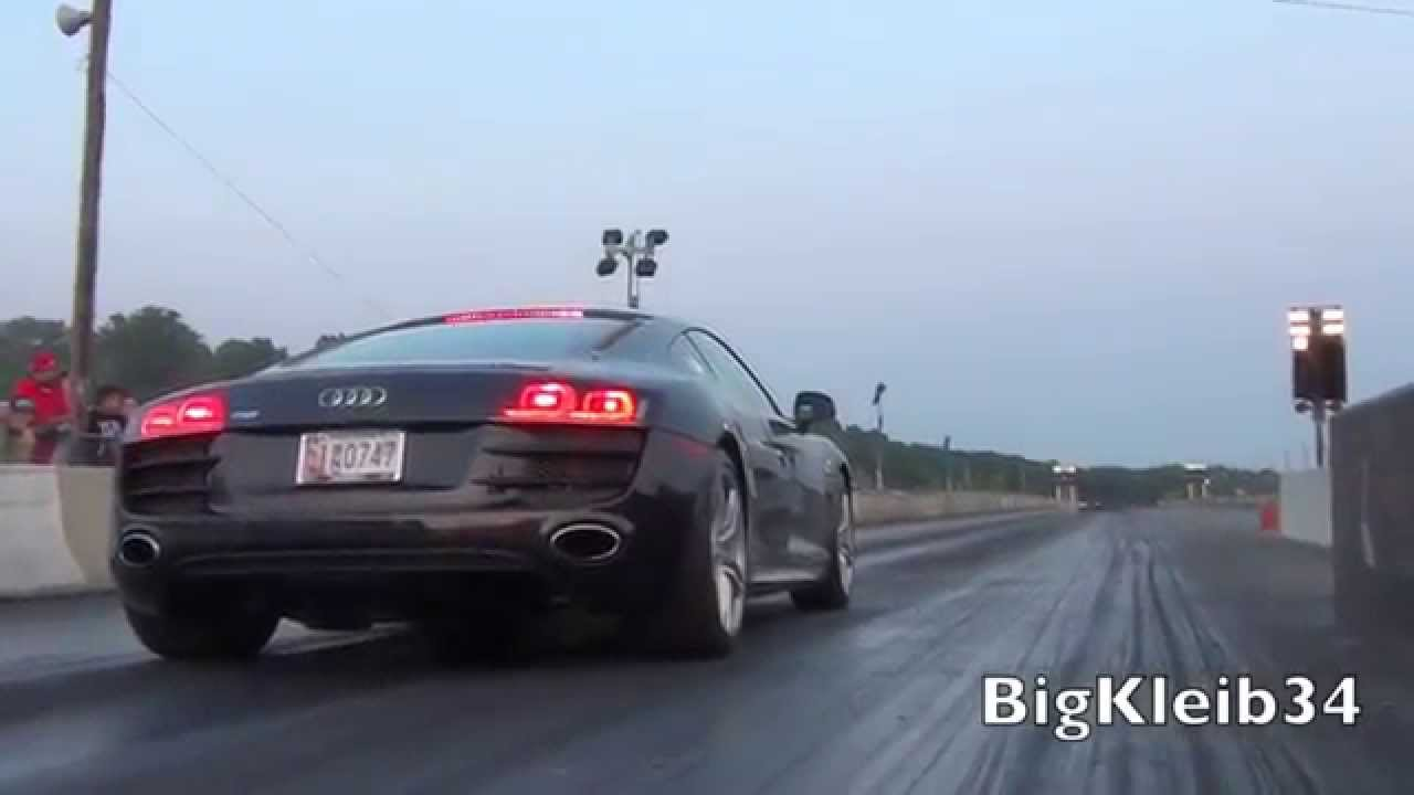 Audi R8 V10 Quarter Mile Passes Youtube