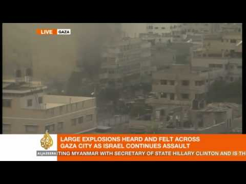 Media building in Gaza hit for the second time