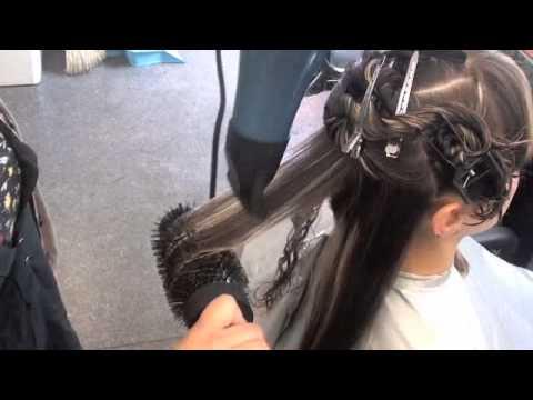 Blow Drying Long Wavy Hair Youtube