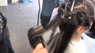 Blow Drying long wavy hair