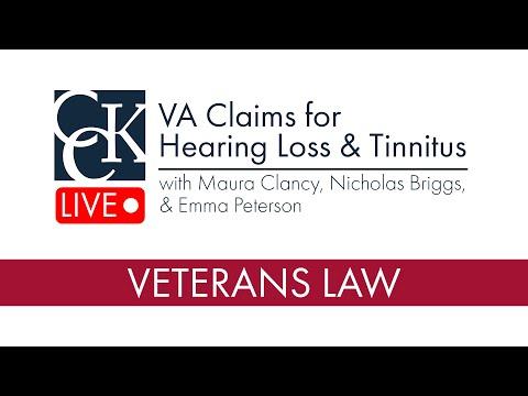 VA Claims for Hearing Loss & Tinnitus - YouTube