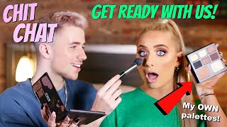 Get ready with US!! Using MY OWN palettes ft MMMMITCHELL