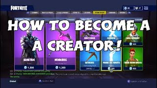 HOW TO BECOME A CREATOR ON FORTNITE (ONLY WORKING METHOD)