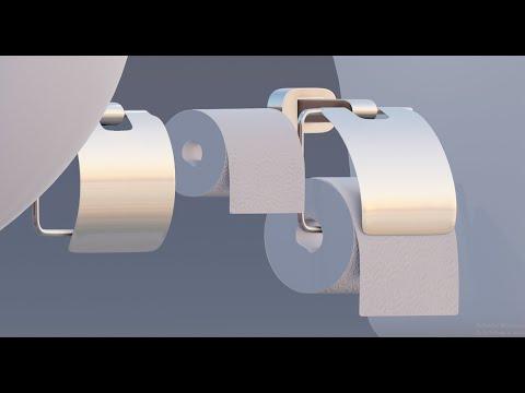 modeling architectural assets toilet paper holder in blender 2.8 tutorial