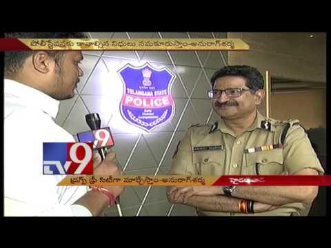 Will make Hyderabad as drugs free City - DGP Anurag Sharma - TV9
