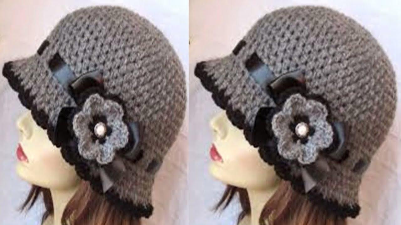 Gorras Y Boinas Para Damas Tejidas A Crochet - Youtube-1396