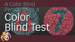 A Color Blind Person takes a Color Blind Test