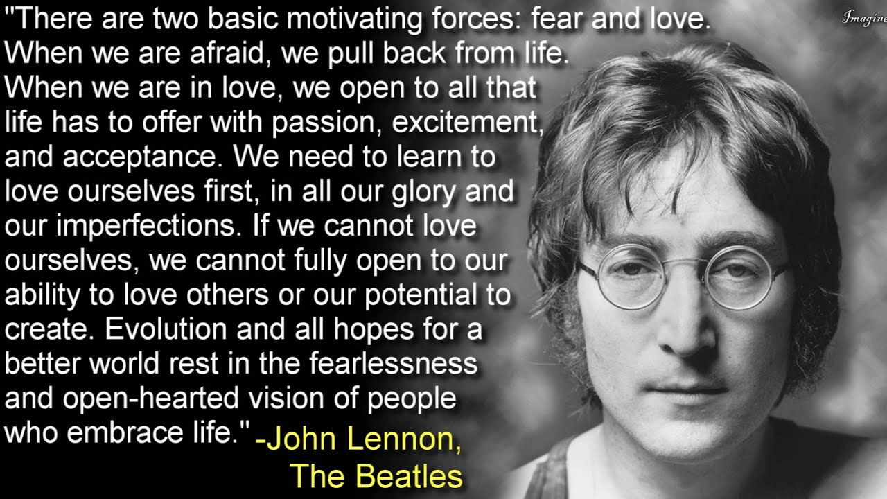 Beatles Quotes Love Fear And Love John Lennon The Beatles  Youtube