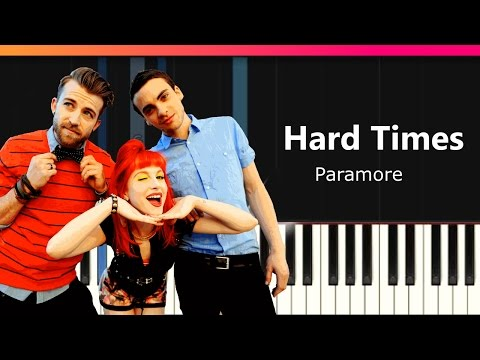 """Paramore - """"Hard Times"""" Piano Tutorial - Chords - How To Play - Cover"""