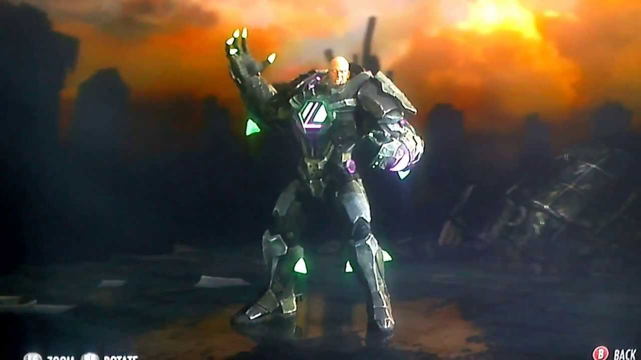 Injustice Lex Luther Kryptonite Suit Costume Youtube