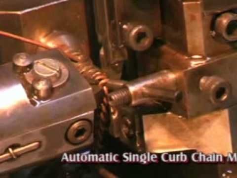 PLETE AUTOMATIC JEWELLERY CHAIN MAKING MACHINES SINGLE CURB