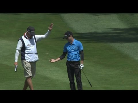 Zach Johnson's impressive eagle hole out at Cadillac Match Play