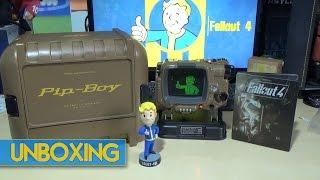 unboxing fallout 4 pip boy edition vault boy bobblehead