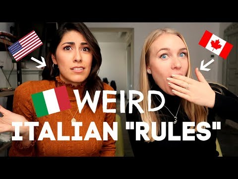 STRANGE ITALIAN RULES!