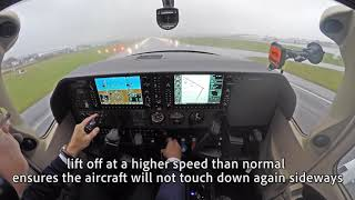 Cessna 182T flight in bad weather - icing and turbulence!