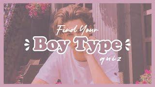 Find Your Boy Type (quiz)