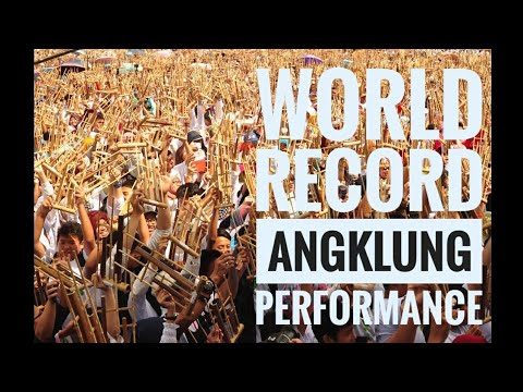 Indonesia Raya & 20 Thousands Angklung Performers for the World Record 2015 #RekorMURI #RekorDunia
