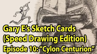 Drawing a Cylon Centurion (time lapse drawing) - Gary E