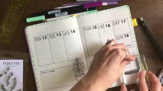 Bullet Journal With Me | June 12th-18th