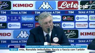 Napoli-Inter 4-1, Carlo Ancelotti in conferenza stampa post-partita