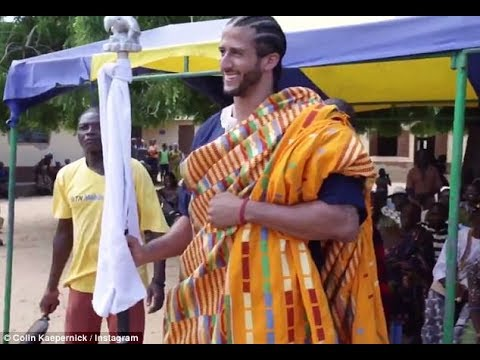 Colin Kaepernick in Ghana asks Blacks why Celebrate July 4th, Frederick Douglass - Michael Imhotep