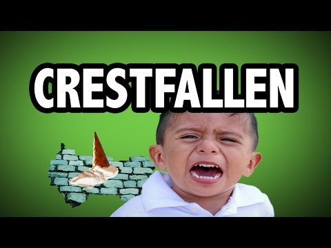 Learn English Words - CRESTFALLEN - Meaning, Vocabulary with Pictures and Examples
