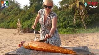 Big Grill Fish Recipe in Goa Beach By Professional Chef | Volga Videos