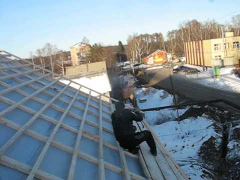 видео: Монтаж обрешетки крыши