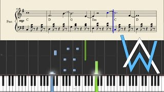 Alan Walker - Sing Me To Sleep - Piano Tutorial + Sheets