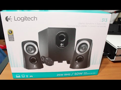 logitech z313 speakers system unboxing youtube. Black Bedroom Furniture Sets. Home Design Ideas