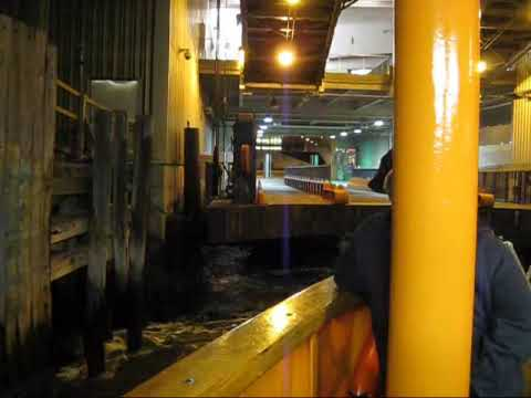 Staten Island Ferry Docking At Whitehall Terminal