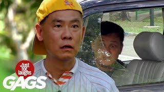 Baseball Kid Smashes Car Window ! - JFL Gags Asia Edition