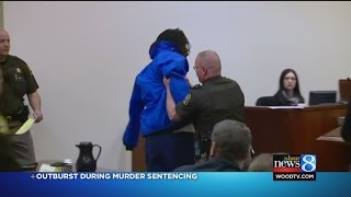 Murderer has outburst in court during sentencing