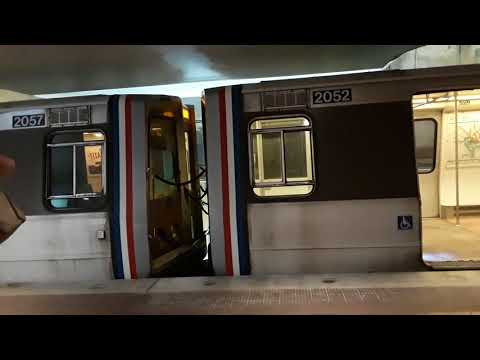 WMATA Silver Line & Not in Service 2000 Series Trains at Federal Triangle
