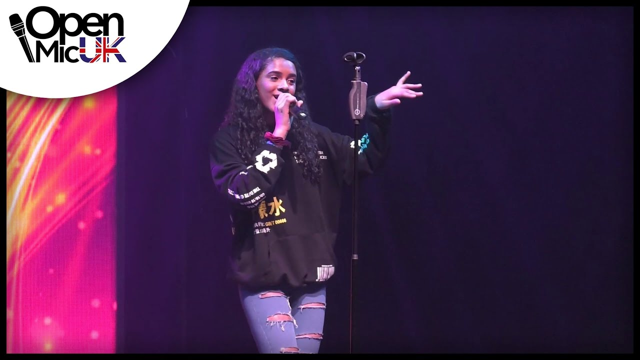 LEAH TURAY at Grand Final of Open Mic UK Music competition