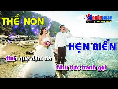 Karaoke LK Thề Non Hẹn Biển -- Tuyệt Phẩm nhạc sống đám cưới hay nhất về tình yêu