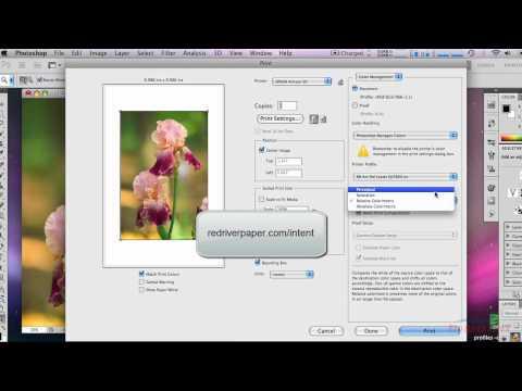 How to use ICC Color Printer Profiles Photoshop CS5 Epson Mac