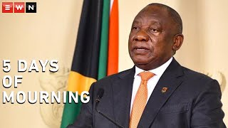 President Cyril Ramaphosa addressed the nation on Wednesday to give an update on the status of Covid-19 in South Africa. He declared 5 days of mourning from the 25 to 29 November for Covid-19 victims as well as victims of gender-based violence victims.  #Coronavirus #covid19 #ramaphosa