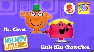 McDONALDS Mr Men Little Miss MR CLEVER Little MISS CHATTERBOX Toy MINT 2017