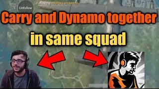 CARRYMINATI and DYNAMO Gaming Together in Same Match | Carry collab with Dynamo | PUBG Mobile