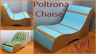 Poltrona Chaise feita com papelão
