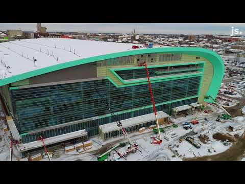 Drone video of the Bucks arena