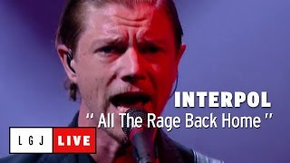 Interpol All The Rage Back Home Live Du Grand Journal