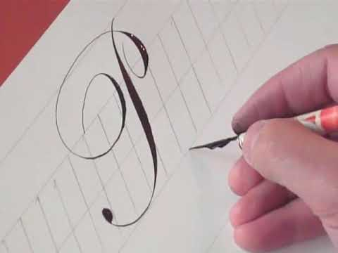 How To Write Copperplate The Letters P
