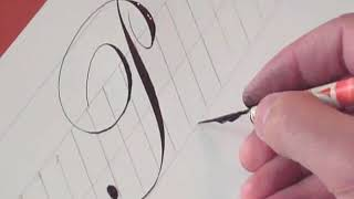 How to write Copperplate (The Letters P & p)